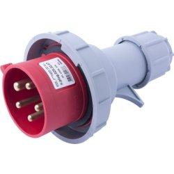 Силовая вилка переносная e.plug.025.32.67, 5п., 400В, 32А, IP 67