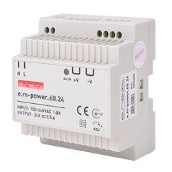 Блок питания 24В на DIN-рейку 60Вт, DC24В e.m-power.60.24
