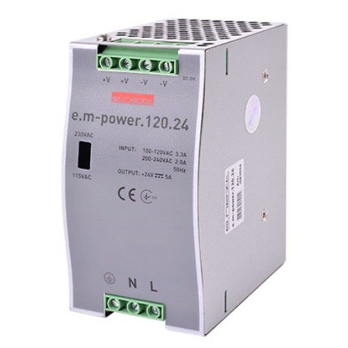 Фото Блок питания на DIN-рейку 120Вт, DC24В e.m-power.120.24 Электробаза