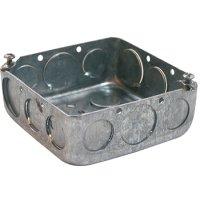 Фото Коробка распаячная для труб, металлическая квадратная с крыш