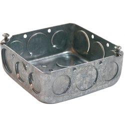 Коробка распаячная для труб, металлическая квадратная с крышкой, толщина стенки 1,5ммм e.industrial.pipe.db