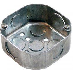 Коробка распаячная для труб, металлическая восьмиугольная с крышкой, толщина стенки 1,5ммм e.industrial.pipe.db.octa