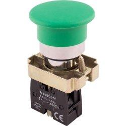 Кнопка грибок без фиксации зеленая, 1NO e.mb.bc31