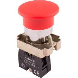 Кнопка грибок без фиксации красная, 1NC e.mb.bc42