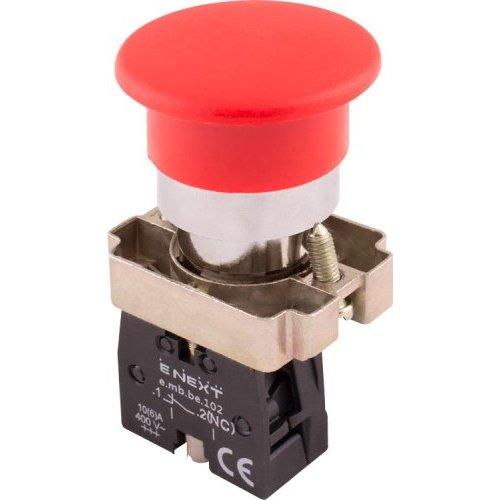 Фото Кнопка грибок без фиксации красная, 1NC e.mb.bc42 Электробаза