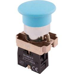 Кнопка грибок без фиксации синяя, 1NO e.mb.bc61