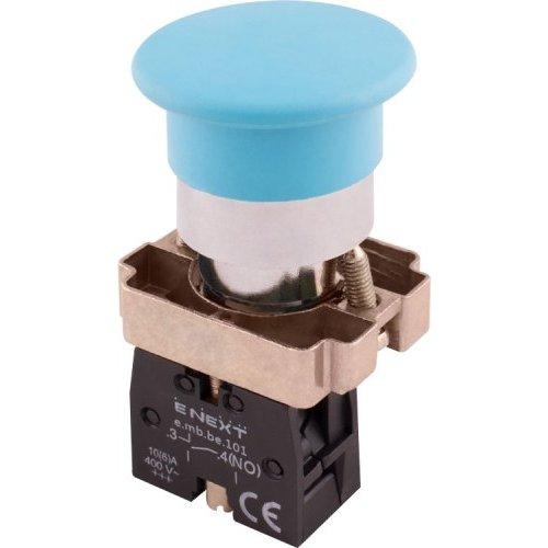 Фото Кнопка грибок без фиксации синяя, 1NO e.mb.bc61 Электробаза