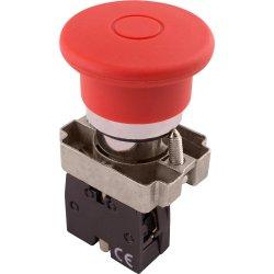 Кнопка грибок с фиксацией красная, 1NC e.mb.bt42