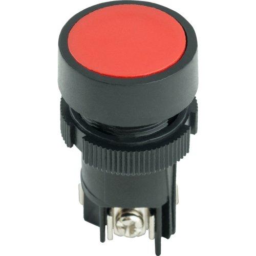 Фото Кнопка пластиковая с фиксацией красная 1NO+1NC e.mb.ea145 Электробаза