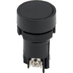 Кнопка пластиковая с фиксацией черная 1NO+1NC e.mb.ea125