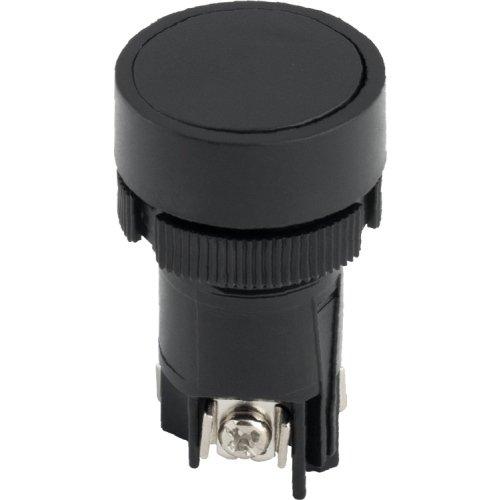 Фото Кнопка пластиковая с фиксацией черная 1NO+1NC e.mb.ea125 Электробаза