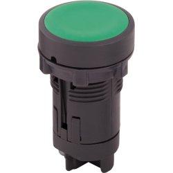 Кнопка пластиковая без фиксации зеленая, 1NO e.mb.ea31
