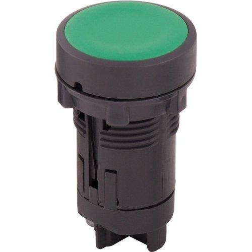 Фото Кнопка пластиковая без фиксации зеленая, 1NO e.mb.ea31 Электробаза