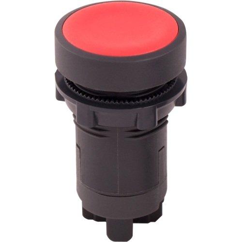 Фото Кнопка пластиковая без фиксации красная, 1NС e.mb.ea42 Электробаза