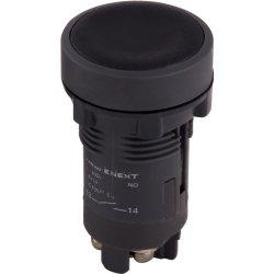 Кнопка пластиковая без фиксации черная, 1NO e.mb.ea21
