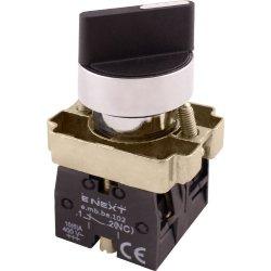 Переключатель на 2 фиксированых положения 1-0 стандартная рукоятка, 1NO+1NC e.mb.bd25