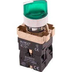 Переключатель с подсветкой на 2 фиксированых положения зеленый e.mb.bk2365