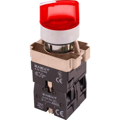 Фото Переключатель с подсветкой на 2 фиксированых положения красный e.mb.bk2465 Электробаза