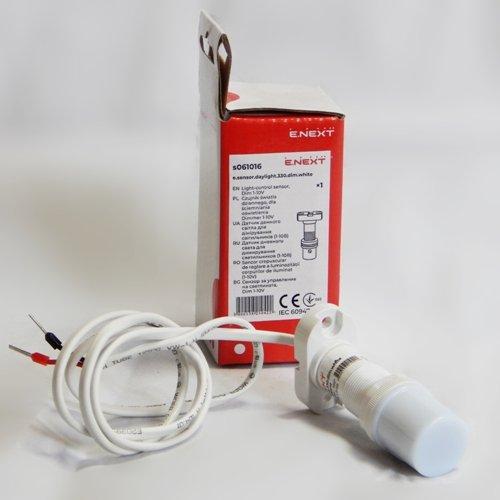 Фото Датчик освещённости для димирования светильников e.sensor.daylight.330.dim.white (белый) Электробаза
