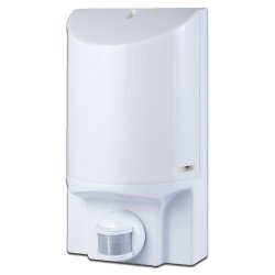 Светильник с датчиком движения настенный e.sensor.lum.52.e27.white (белый) 180° IP44