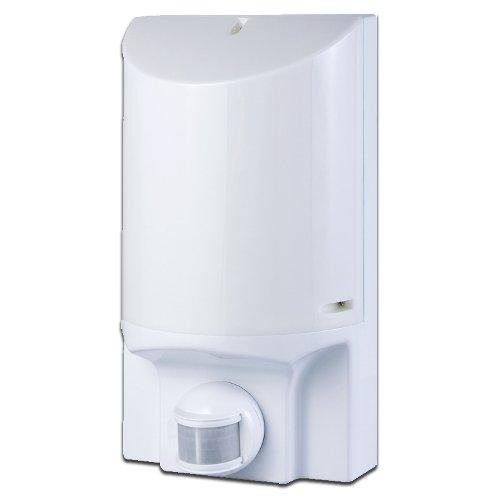 Фото Светильник с датчиком движения настенный e.sensor.lum.52.e27.white (белый) 180° IP44 Электробаза