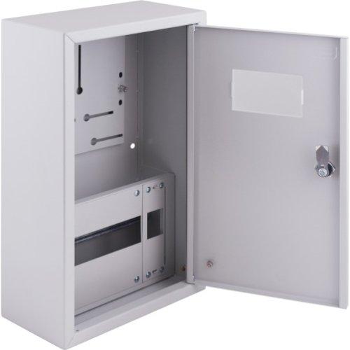 Фото Щиток электрический накладной под 1ф счетчик 12 модулей с замком e.mbox.pro.n.f1.12z IP31 Электробаза