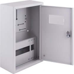 Щиток электрический накладной под 3ф счетчик 27 модулей с замком e.mbox.pro.n.f3.27z IP31