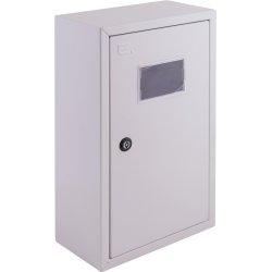 Щиток электрический накладной под 1ф счетчик 4 модуля с замком, с внутренней дверцей под опломбировку e.mbox.pro.n.f1.4z IP54