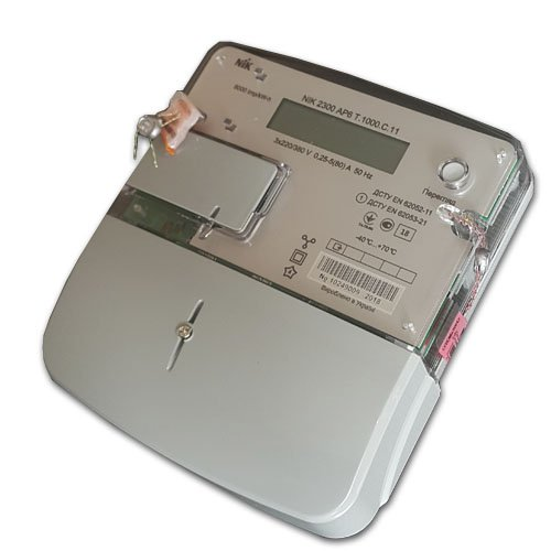 Фото Трехфазный многотарифный счетчик NIK 2300 АP6T.1000.C.11 (5-80A) Электробаза