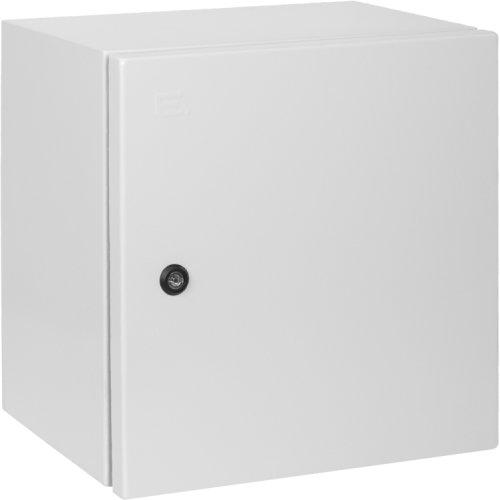 Фото Бокс электромонтажный металл IP65 с монтажной панелью (600х400х200) e.mbox.industrial.p.60.40.20z Электробаза