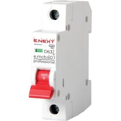 Модульный автоматический выключатель, 1р, 20А, D, 6кА e.mcb.pro.60.1.D.20