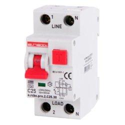Выключатель дифференциального тока с зашитой от сверхтока, 1P+N, 20А, С, тип А, 30мА e.rcbo.pro.2.C20.30