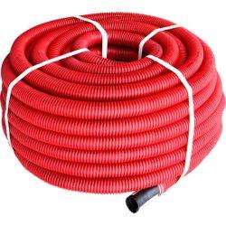Труба гофрированная двостенная Копофлекс красная 63(50м)