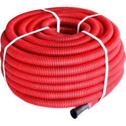 Труба гофрированная двостенная Копофлекс красная 75(50м)