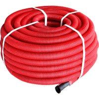 Фото Труба гофрированная двостенная Копофлекс красная 90(50м)