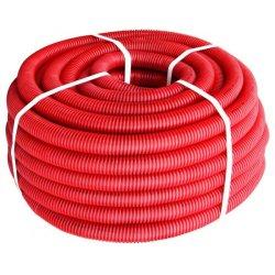 Труба гофрированная тяжелая (750Н) e.g.tube.pro.11.16 (25м).red,красная