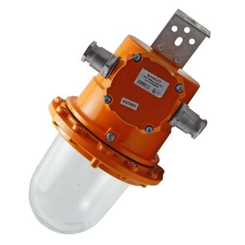 Фото Светильник взрывозащищенный НСП 18Bex-200-101 1ЕхdeIICT4 200Вт IP65 транзитное подключение универсальный кронштейн без решетки без отражателя Электробаза