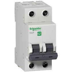 Автоматический выключатель Schneider 2р 63А Х-кА С Easy9
