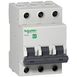 Автоматический выключатель 3р 10А Х-кА С Schneider Easy9