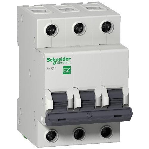 Фото Автоматический выключатель 3р 10А Х-кА С Schneider Easy9 Электробаза