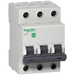 Автоматический выключатель Schneider 3р 63А Х-кА С Easy9