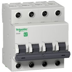 Выключатель автоматический 4Р 20А Х-кА С Easy9 Schneider