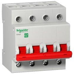 Выключатель нагрузки 4Р 100А 5кА Schneider Easy9