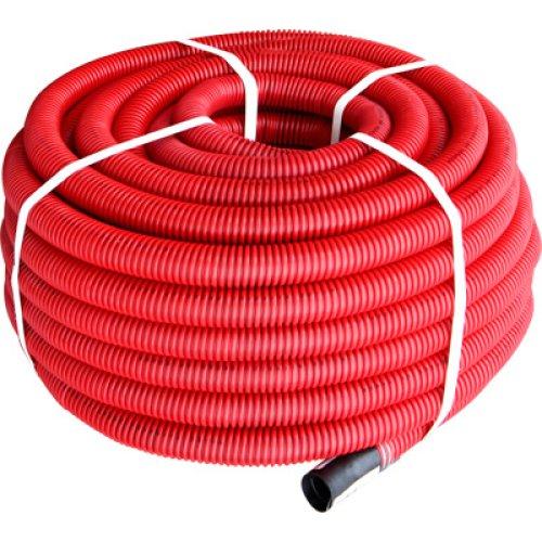 Фото Труба гофрована двостінна Копофлекс червона 50(50м) Электробаза