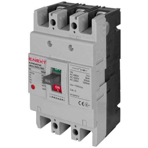Фото Силовий автоматичний вимикач e.industrial.ukm.100S.160, 3р, 160А Электробаза