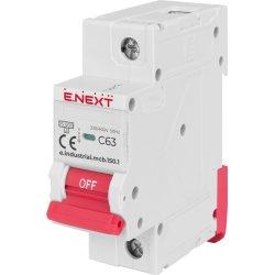 Модульний автоматичний вимикач e.industrial.mcb.150.1.C63, 1р, 63А, C, 15кА