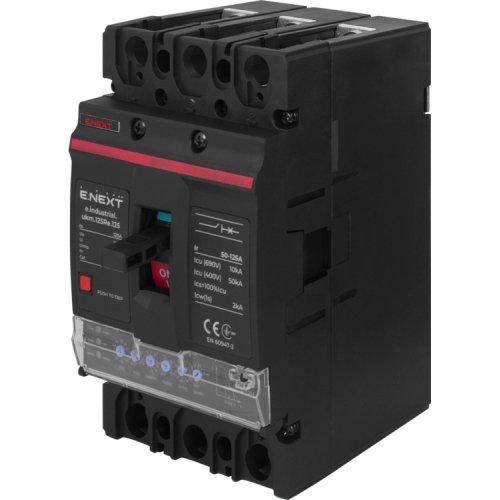 Фото Силовий автоматичний вимикач e.industrial.ukm.125Re.100 з електронним розчіплювачем, 3р, 100А Электробаза