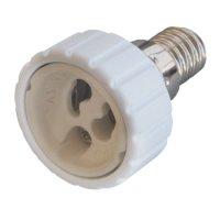 Фото Перехідник e.lamp adapter.Е14/GU10.white, з патрону Е14 на G