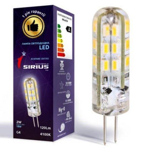 Фото Лампа светодиодная LED MT-G4-SL-001A  2W 4100K G4 SIRIUS Электробаза