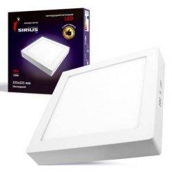 Светильник светодиодный накладной квадратный 18Вт 5000К SM10-9F SIRIUS